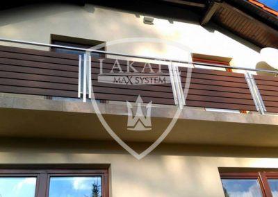 Nowoczesna balustrada drewnopodobna produkcji lakate – miejscowość Klucze