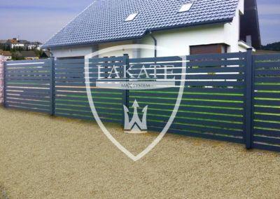 Nowoczesne ogrodzenie aluminiowe Będzin, ogrodzenia na słupach