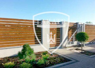 Ogrodzenie aluminiowe Alu Fence Optimal kolor antracyt