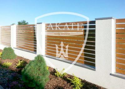 Nowoczesne ogrodzenie aluminiowe zamontowane pod Warszawą