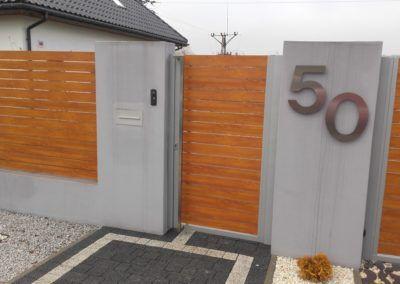 stalowy numer dom nowoczesne akcesoria made by Lakate