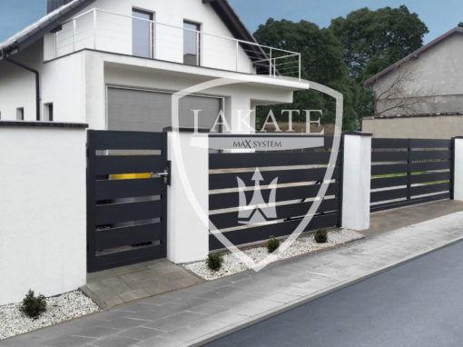 100 % aluminium ogrodzenia bez korozji, realizacja Śląsk