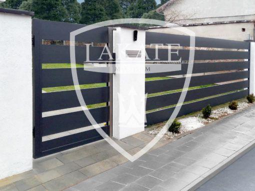 Nowoczesne ogrodzenie na Śląsku Alu Fence Premium anthracite