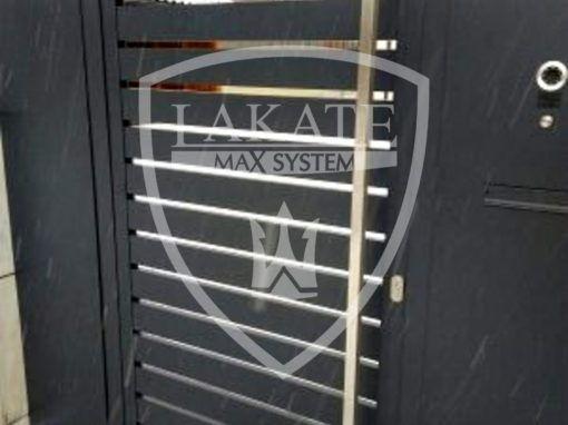 Nowoczesna skrzynka pocztowa mailbox, zabudowana furtka, efektownie, spójnie,funkcjonalnie
