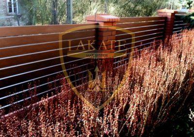 Ogrodzenie drewnopodobne aluminiowe w Kluczach