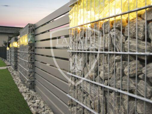 Piękne nowoczesne podświetlane ogrodzenie w okolicach Wodzisław Śląskiego