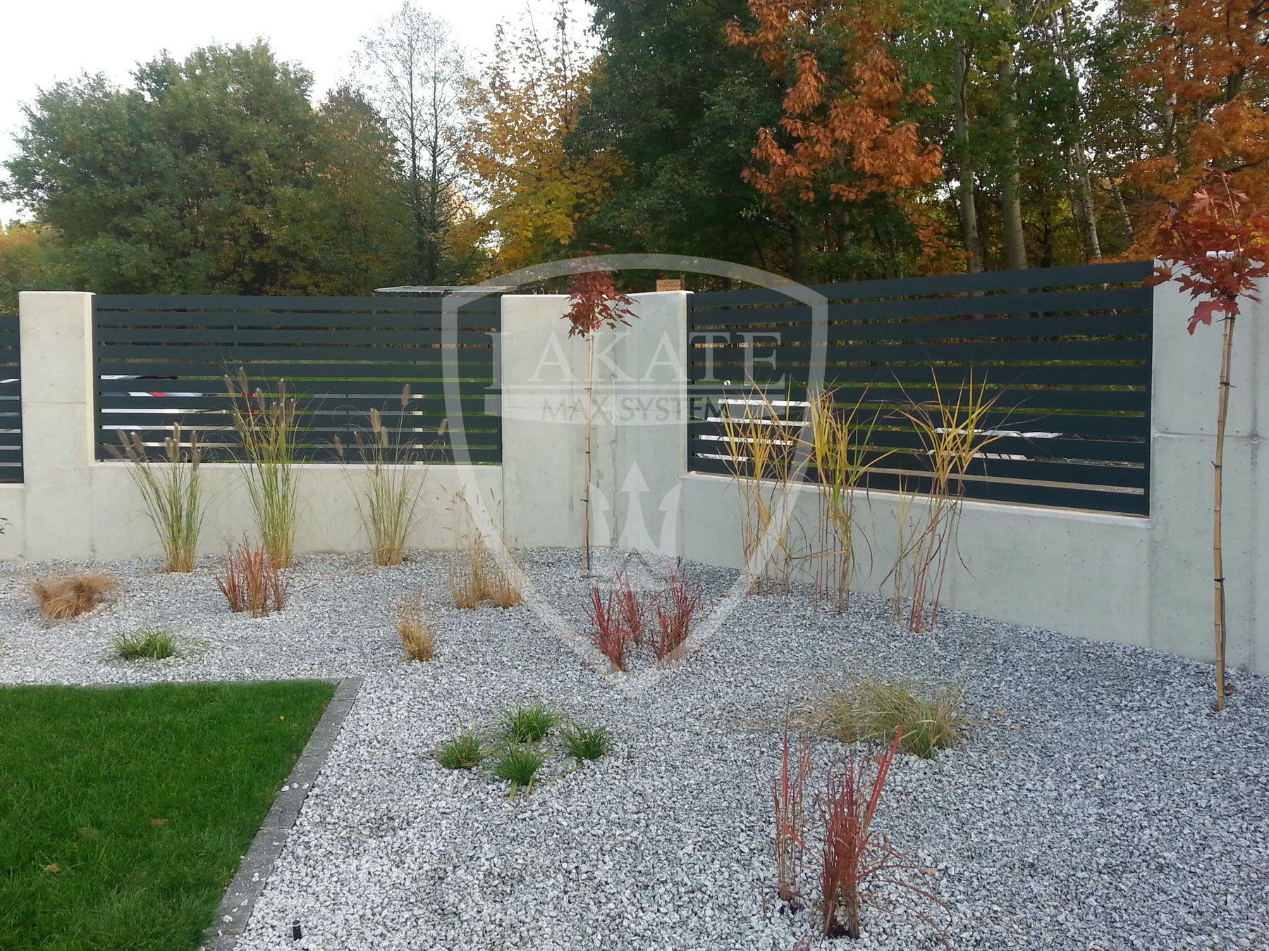 Ogrodzenie Alu Fence, beton architektoniczny