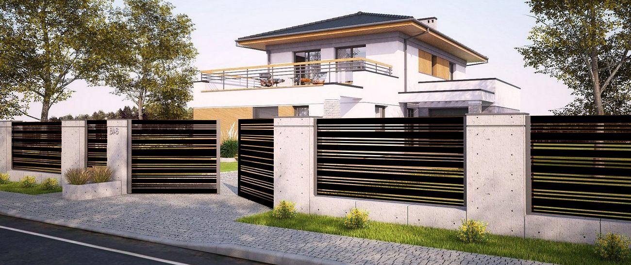 Alu Fence MIX - kolor czarny