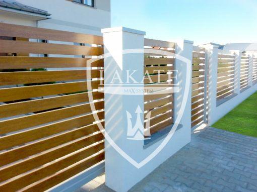 Ogradzamy osiedla deweloperskie, nowoczesne ogrodzenia aluminiowe wykonane z poziomych sztachet drewnopodobnych, Warszawa 2016