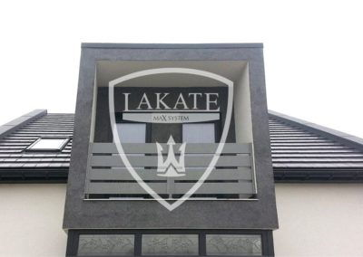 Krótka i elegancka balustrada aluminiowa