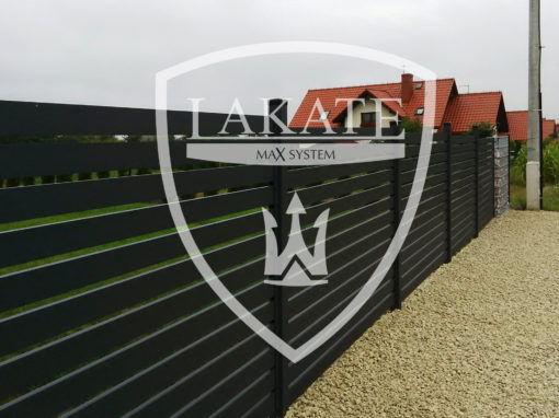 Nowoczesne ogrodzenie aluminiowe profil 100