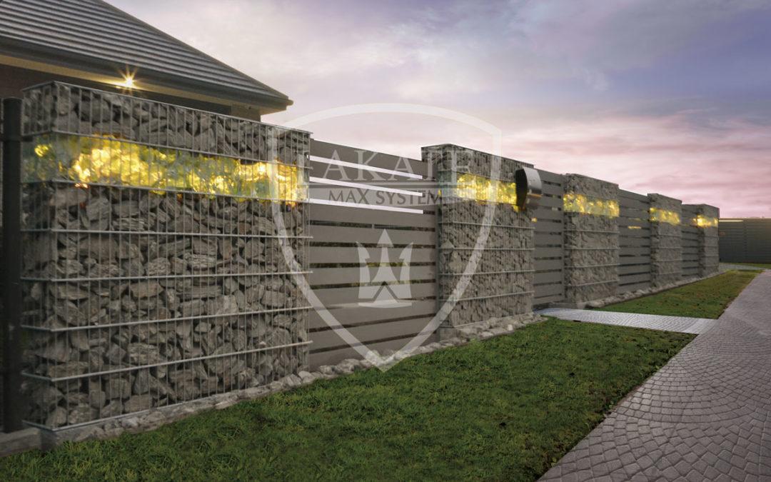 Ogrodzenia z kamienia, gabionowe, połączenie stali i kamienia