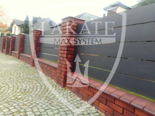 Ogrodzenie nowoczesne z paneli aluminiowych ALU FENCE PREMIUM, pozwala zachować prywatność i bezpieczeństwo posesji