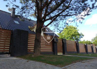 Alu wood fence, ogrodzenie aluminiowe Żory