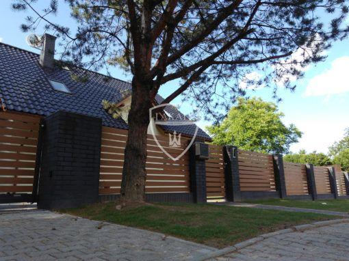 Alu wood fence. Panele drewnopodobne winchester – ogrodzenie aluminiowe Żory