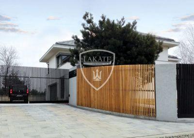 Pionowe ogrodzenie, profile aluminiowe prestige