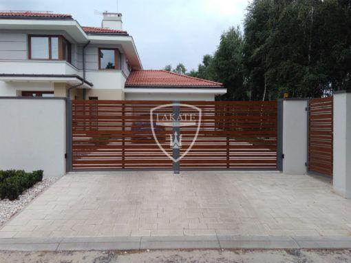 Ogrodzenie palisadowe- alu wood fence mix