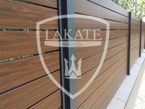 Drewnopodobne panele ogrodzeniowe alu wood fence