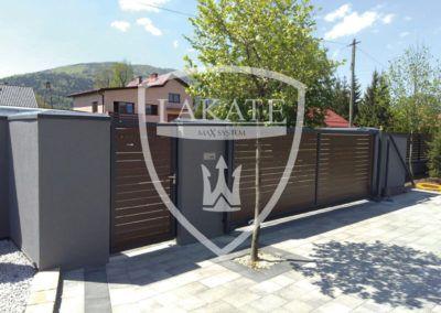 Ogrodzenie Alu wood fence optimal ogrodzenie aluminiowe imitujące drewno