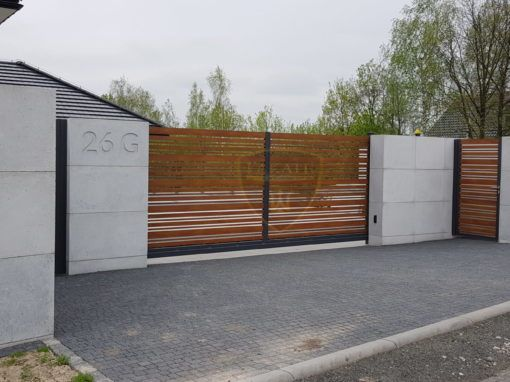 Alu wood fence