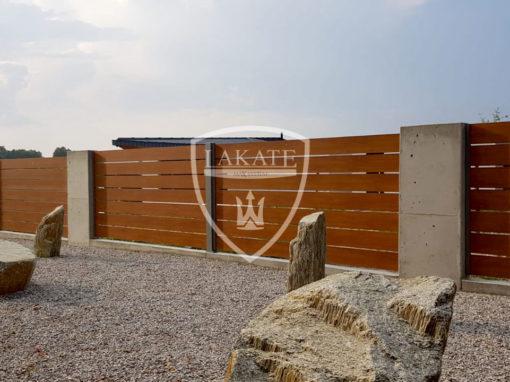 Ogrodzenie aluminiowe Premium Wood
